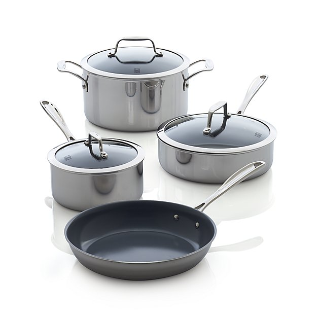 ZWILLING ® J.A. Henckels VistaClad Ceramic Non-stick 7-Piece Cookware Set