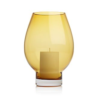 Vista Amber Hurricane Pillar Candle Holder