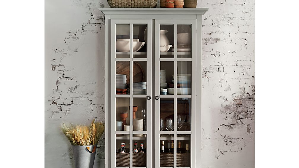Vitrine cabinet crate and barrel for Sideboard vitrine