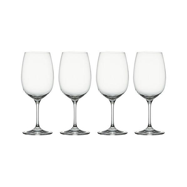 Set of 4 Viv Big Red Wine Glasses