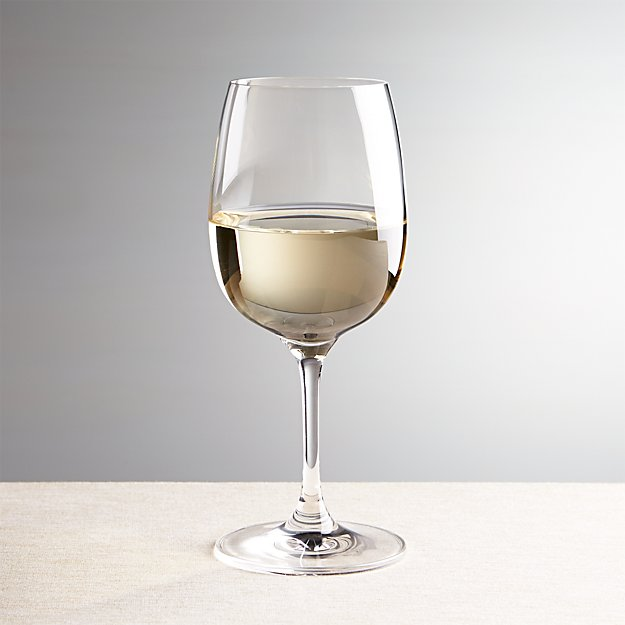 Crate&Barrel - Elin White Wine Glass, Wine Glasses. EBAY. Designed for us exclusively by Anna Lisa Sigmarsdottir, the Elin glass embodies the true art of glassmaking. A team of skilled artisans blow molten glass into a mold to create the perfectly shaped bowl for fine wines. The stem is molded separately and beautifully detailed with a stacked.