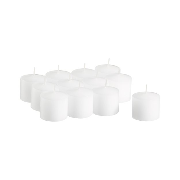 Set of 12 White Votive Candles