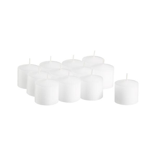 Set of 12 White Votive Candles