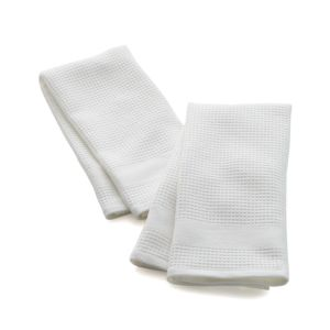Set of 2 Waffle-Terry White Dishtowels