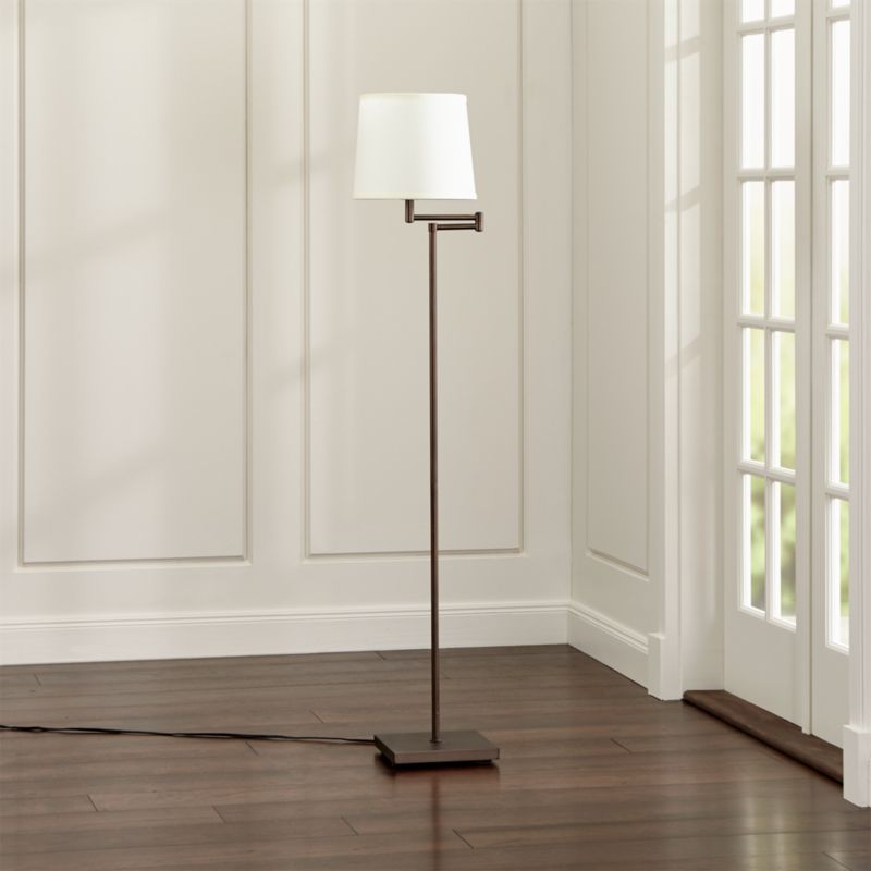 Adams Bronze Swing Arm Floor Lamp