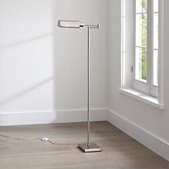 Wagner Nickel Pharmacy Floor Lamp