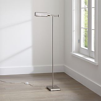 Wagner Nickel Pharmacy Floor Lamp