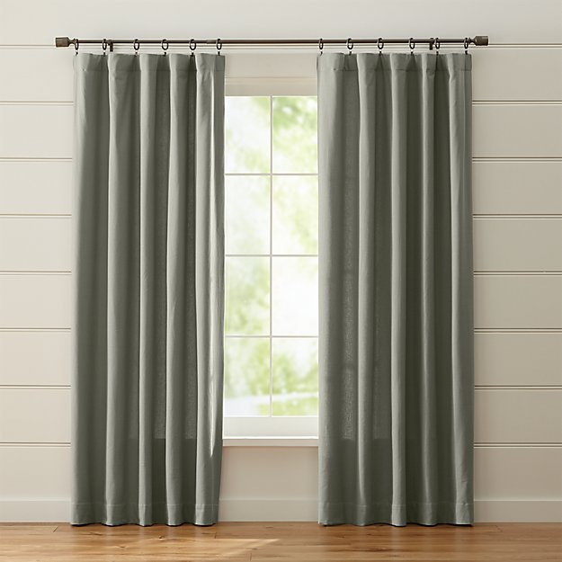 Wallace Grey Curtains Crate And Barrel