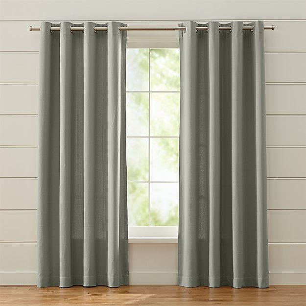 Gray grommet curtains