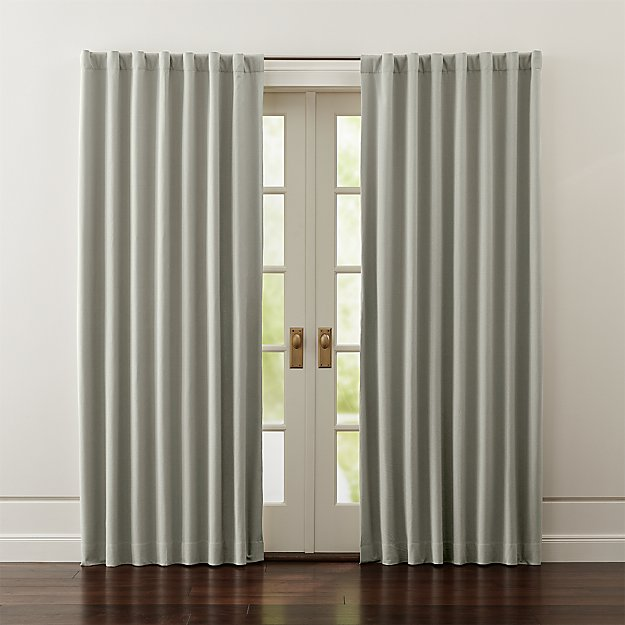 Wallace Grey Blackout Curtains | Crate and Barrel