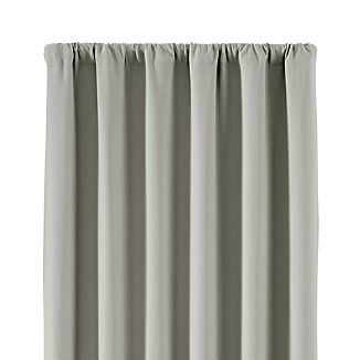 """Wallace 52""""x84"""" Grey Blackout Curtain Panel"""