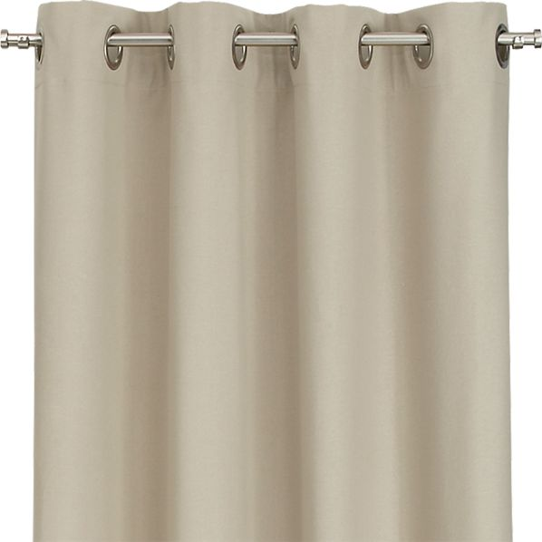 Wallace Flax 52x63 Grommet Curtain Panel
