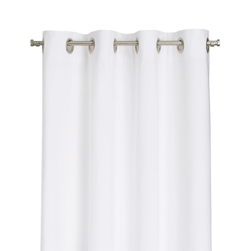 "Wallace 52""x84"" White Grommet Curtain Panel"