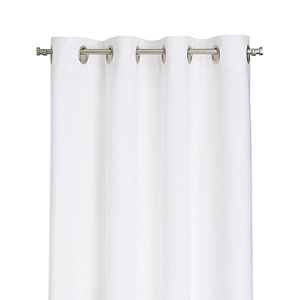 """Wallace White 52""""x108"""" Grommet Curtain Panel"""