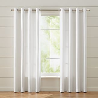 Wallace White Grommet Curtains