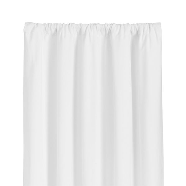 "Wallace White 52""x63"" Curtain Panel"