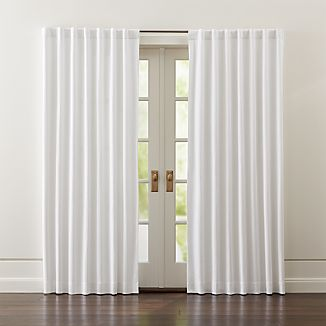 Wallace White Blackout Curtains