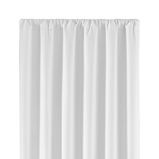 Wallace White 52 X96 Blackout Curtain Panel Crate And Barrel