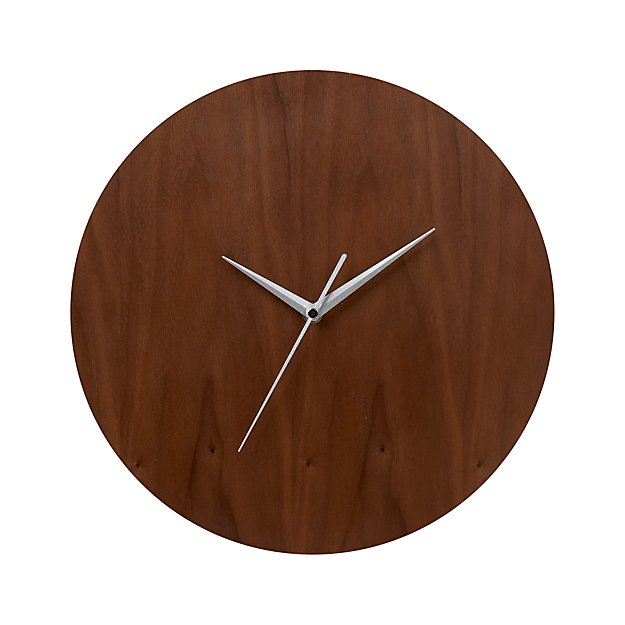 Crate And Barrel Outdoor Wall Decor : Walnut quot wall clock crate and barrel