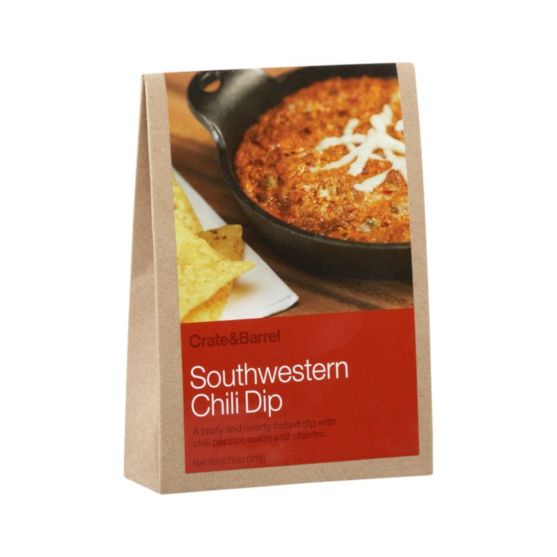 A delicious dip for easy entertaining with chips, breads, crackers or veggies. Makes for a hearty, hot gourmet appetizer. Some additional ingredients required.<br /><br /><NEWTAG/><ul><li>Contains chili pepper, dehydrated onion, garlic, bell pepper, dextrose, cilantro, salt, oregano, cumin, natural mesquite smoke flavor, spice extract, soybean oil and anti-caking agent</li><li>Produced in a facility that processes nuts</li></ul>