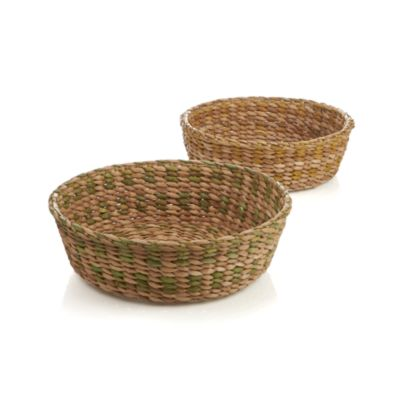 2-Piece Water Hyacinth Basket Set