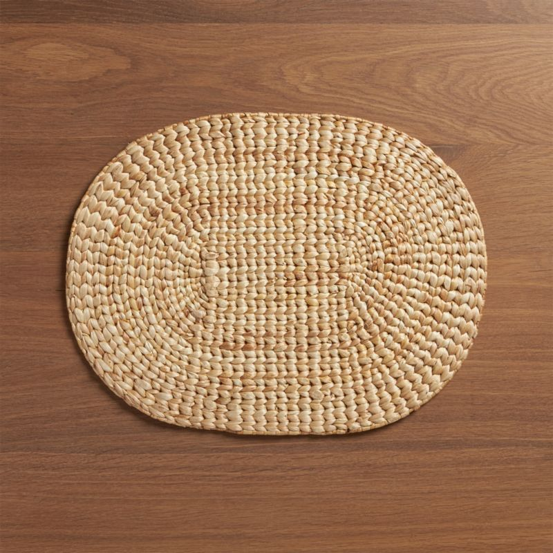 Water Hyacinth Oval Placemat Crate And Barrel