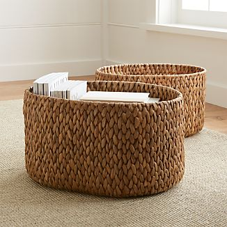 Water Hyacinth Oval Baskets