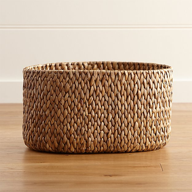 Water Hyacinth Large Oval Basket