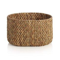 Water Hyacinth Small Oval Basket