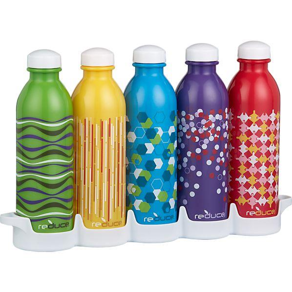 WaterWeek Water Bottles Set of Five