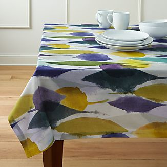 Watercolor Leaves Tablecloth