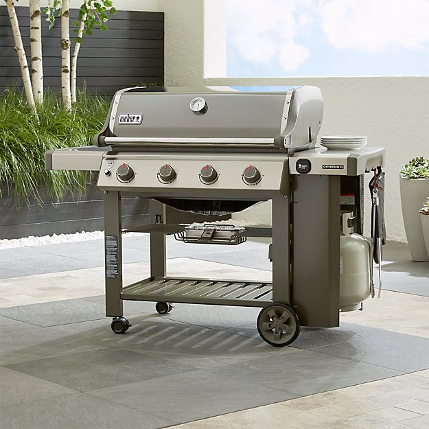 weber genesis ii e 410 smoke gas grill crate and barrel