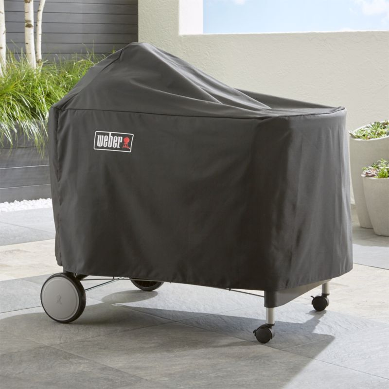 Weber performer premium deluxe grill cover crate and barrel - Nettoyer grille barbecue weber ...