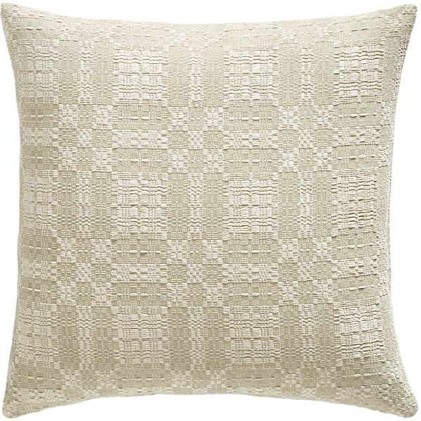 """Webley Neutral 23"""" Pillow with Feather-Down Insert"""