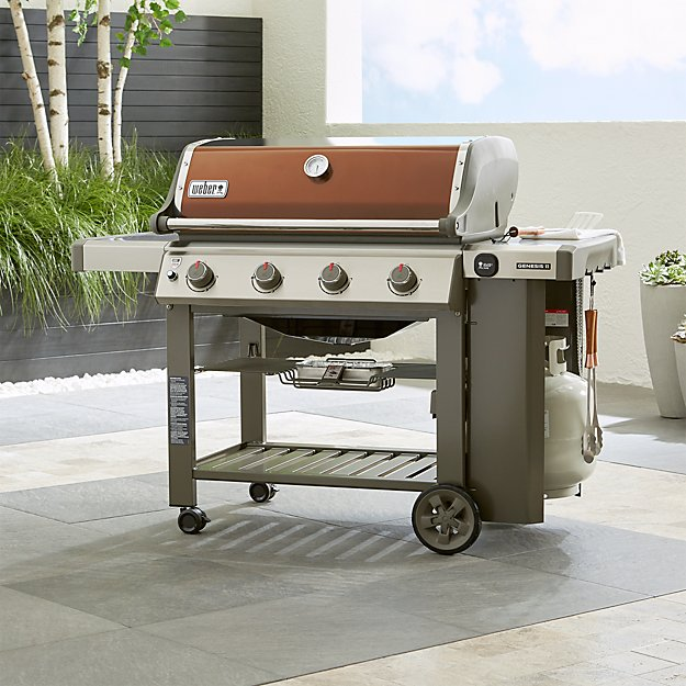 Weber Genesis Ii E 410 Copper Gas Grill Crate And Barrel