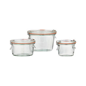 Weck Low Canning Jars - Weck 10 oz