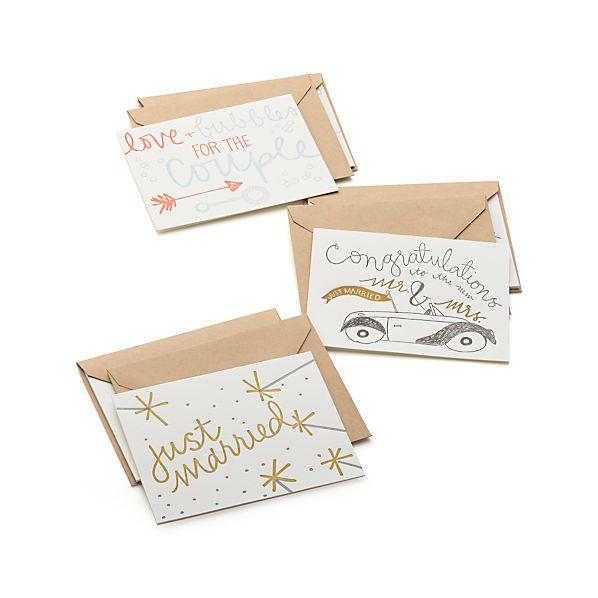 Set of 6 Wedding Cards