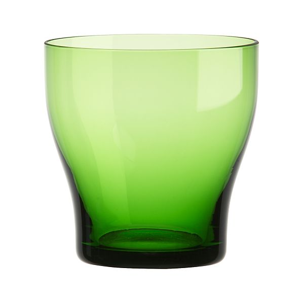 Welcome Green Double Old-Fashioned Glass