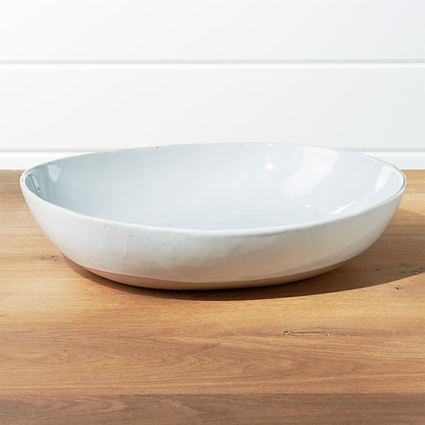 Welcome White Large Serving Bowl