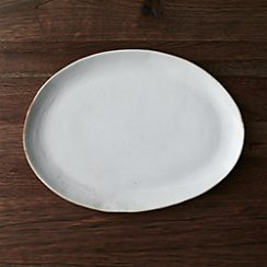 Welcome White Platter