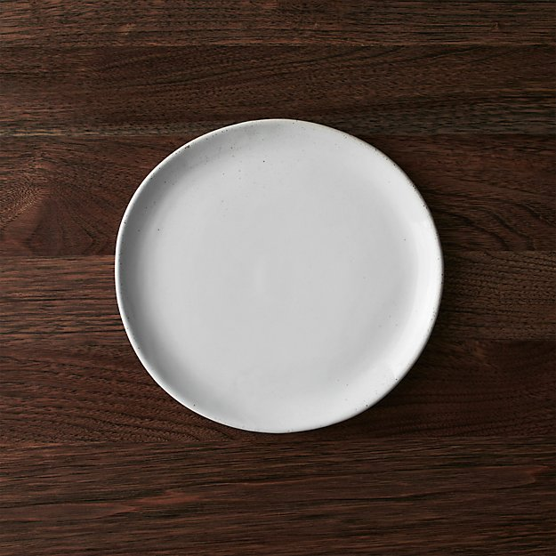 Welcome White Salad Plate