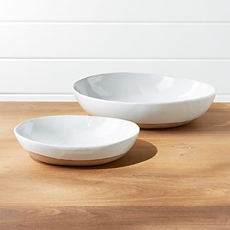 Welcome White Serving Bowls