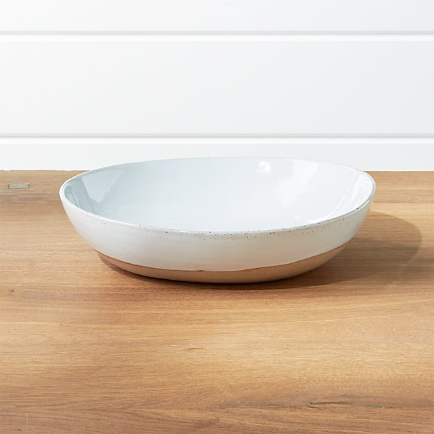 Welcome White Small Serving Bowl