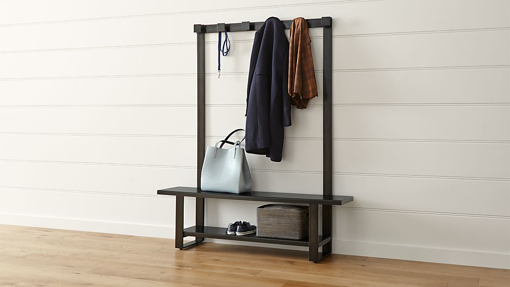 Welkom Hall Tree Bench with Coat Rack | Crate and Barrel