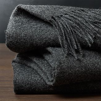Wes Alpaca Wool Grey Throw