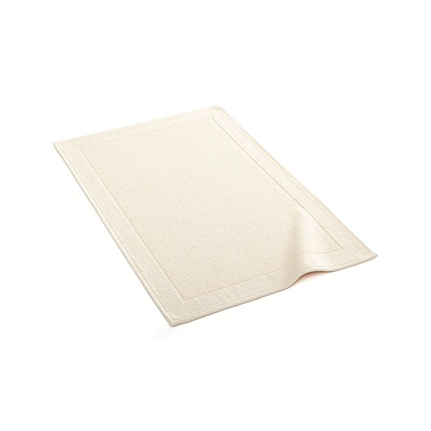 Crate And Barrel Bath Rugs: Westport Cream Bath Rug