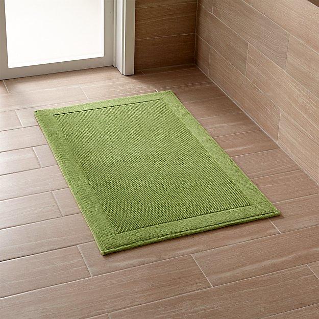 westport green bath rug crate and barrel