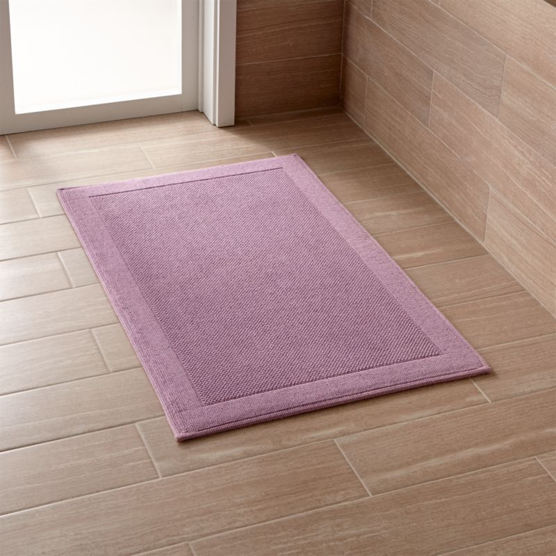 Westport Purple Bath Rug Crate And Barrel