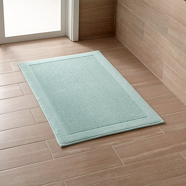 Crate And Barrel Bath Rugs: Westport Seafoam Bath Rug