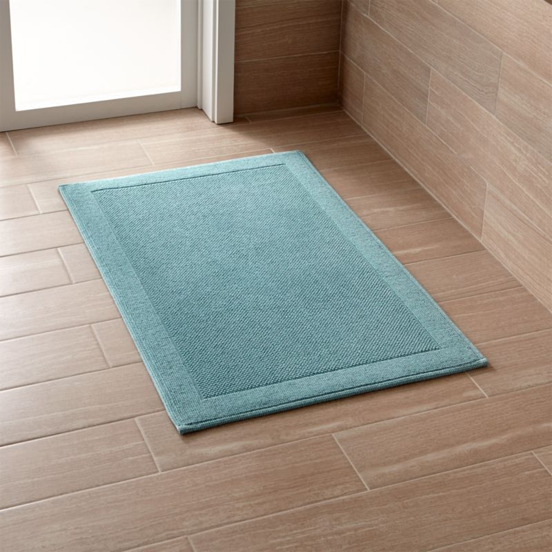 Westport Teal Bath Rug